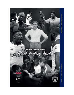 Spurs Vs West Ham Programme 2020/21