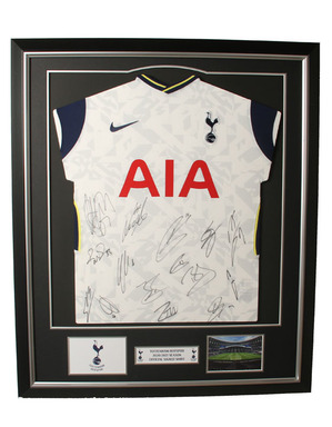 Spurs 2020/21 Framed Signed Shirt