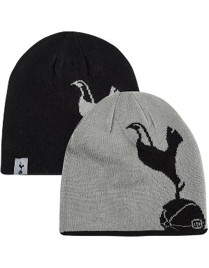 Spurs Mens Reversible Crest Beanie
