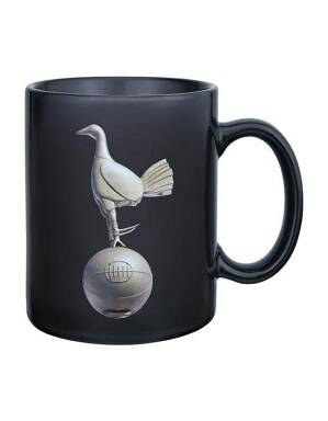 Spurs Black Gold Crest Mug