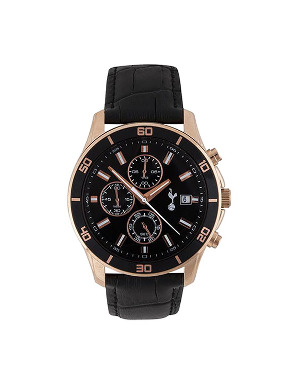 Spurs Boxed Rose Gold Chronograph Watch