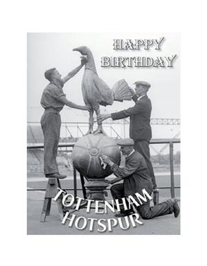 Spurs Retro Birthday Card