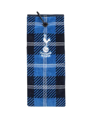 Spurs Check Golf Towel