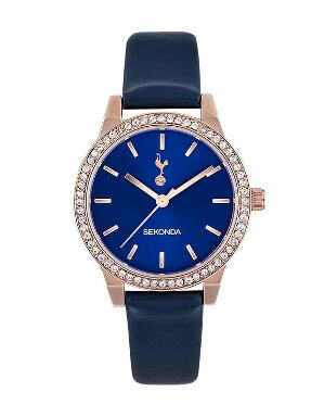 Spurs Womens Crystal Navy Watch