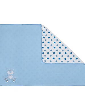 Spurs Blue Spot Baby Blanket