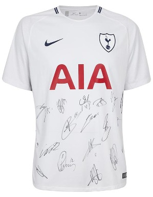 Spurs Signed Shirt Boxed 2017/2018