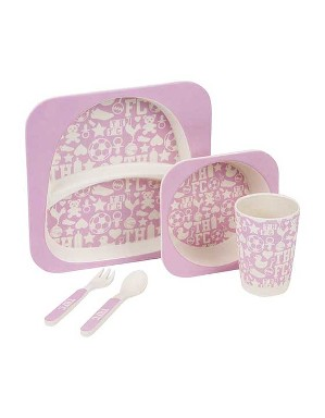 Pink 5 Piece Dining Set