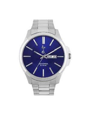 Spurs Mens Blue Dial Bracelet Watch