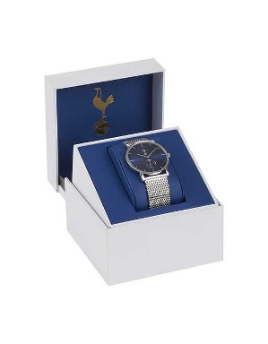 Spurs Mens Boxed Stainless Steel Dress Watch