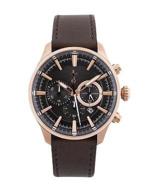 Spurs Adult Boxed Chronograph Leather Watch