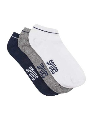 Spurs Mens 3 Pack Trainer Socks