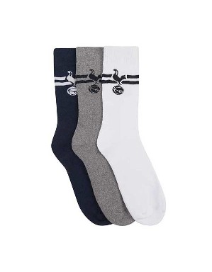 Spurs Mens 3 Pack Sports Socks