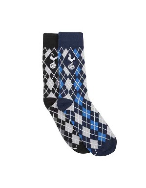 Spurs Mens 2 Pack Argyle Socks