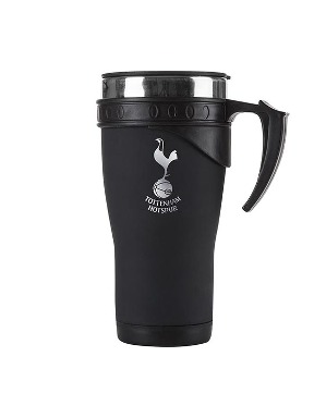 Spurs Matt Black Travel Mug