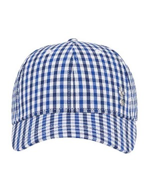 Spurs Adult Crest Gingham Cap
