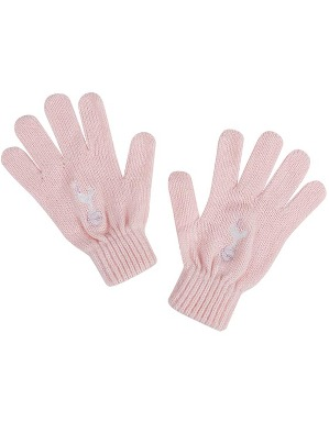Spurs Girls Age 4-7 Pink Knitted Gloves