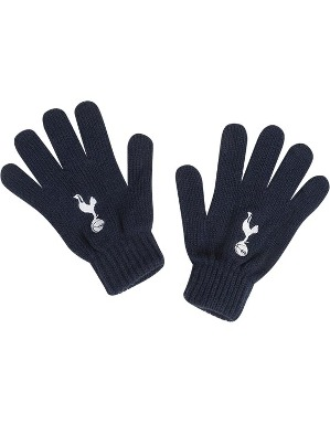 Spurs Boys Age 4-7 Navy Knitted Gloves