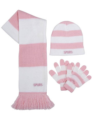 Spurs Kids Pink And White Stripe 3 Piece Set