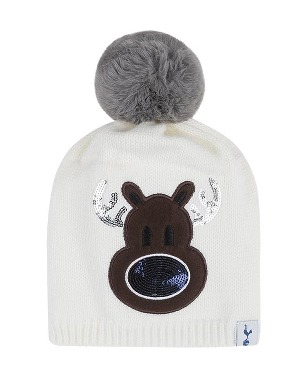 Spurs Kids Sequin Reindeer Bobble Beanie