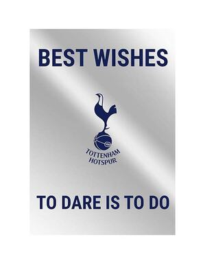 Spurs Metallic Best Wishes Card