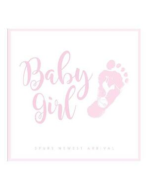 Spurs Baby Girl Card