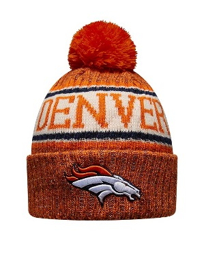 New Era Adult Denver Broncos Bobble Knit Hat