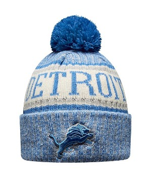 New Era Adult Detroit Lions Bobble Knit Hat