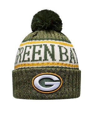 New Era Adult Green Bay Packers Bobble Knit Hat