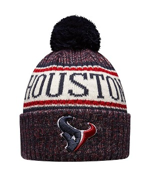 New Era Adult Houston Texans Bobble Knit Hat