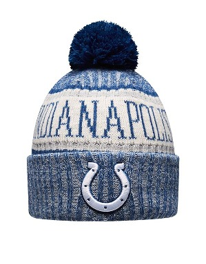 New Era Adult Indianapolis Colts Bobble Knit Hat