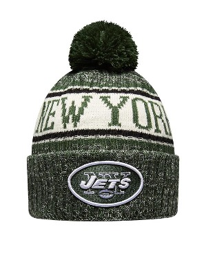 New Era Adult New York Jets Bobble Knit Hat