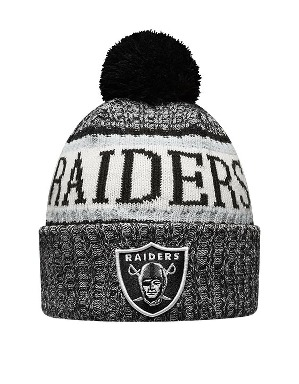 New Era Adult Oakland Raiders Bobble Knit Hat