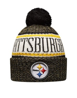 New Era Adult Pittsburgh Steelers Bobble Knit Hat