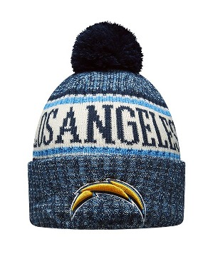 New Era Adult Los Angeles Chargers Bobble Knit Hat