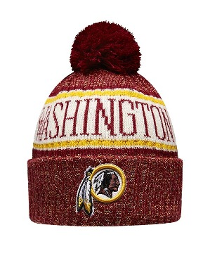New Era Adult Washington Redskins Bobble Knit Hat