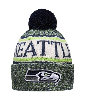 New Era Adult Seattle Seahawks Bobble Knit Hat