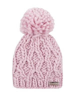 Spurs Small Kids Pink Cable Pom Hat