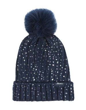 Spurs Kids Shimmer Pom Hat