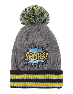 Spurs Small Kids Pow Bobble Hat