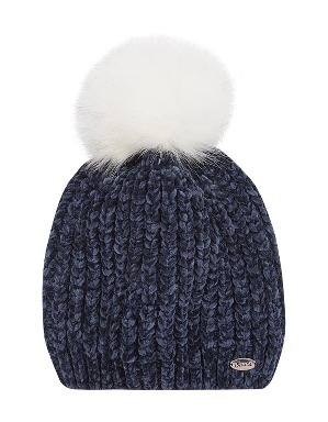 Spurs Womens Chenille Pom Hat