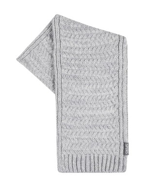 Spurs Womens Grey Knit Scarf