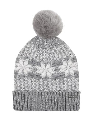 Spurs Womens Snowflake Pom Hat