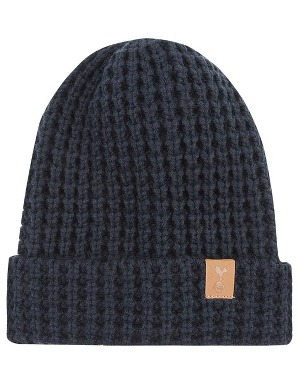 Spurs Adult Navy Crest Waffle Beanie