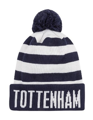 Spurs Adult Bar Stripe Bobble Hat