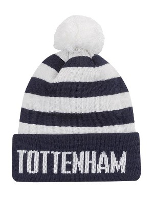 Spurs Kids Navy Bar Stripe Bobble Hat