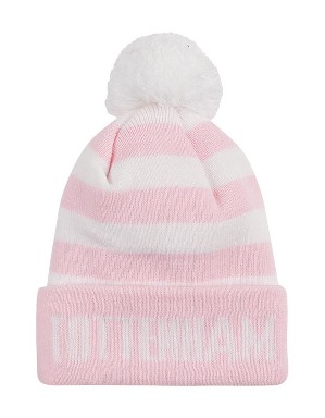 Spurs Kids Pink Bar Stripe Bobble Hat