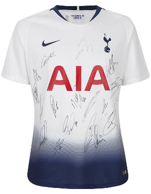 Spurs 2018/2019 Boxed Signed Shirt