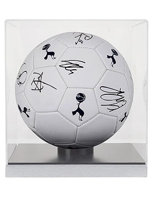 Spurs 2018/2019 Signed Football In Cube