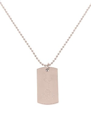 Spurs Adult Rose Gold Crest Dog Tag