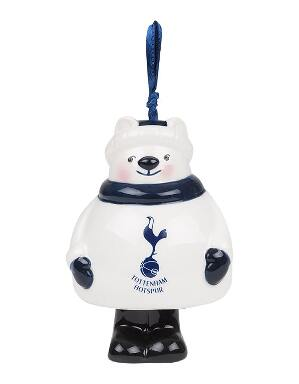 Spurs Polar Bear Ceramic Tree Ornament